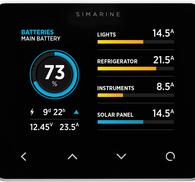 Pico batterimonitor svart-utanpåliggande